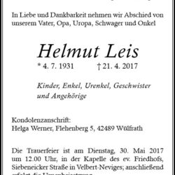 Helmut Leis