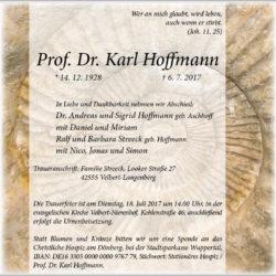 Prof. Dr. Karl Hoffmann