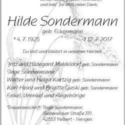 Hilde Sondermann
