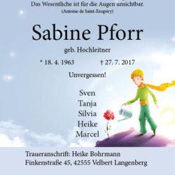 Sabine Pforr
