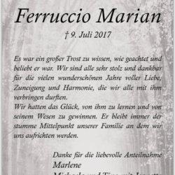 Ferruccio Marian (Danksagung)
