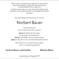 Norbert Bauer (Danksagung)