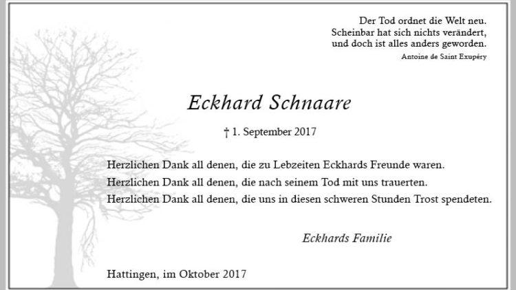 Eckhard Schnaare (Danksagung)