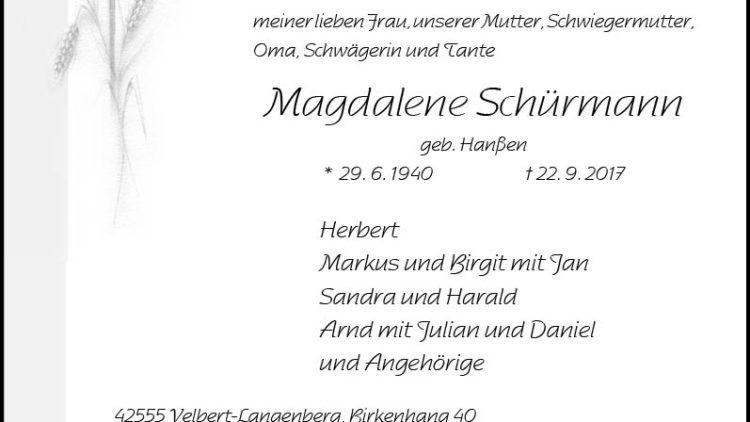 Magdalene Schürmann