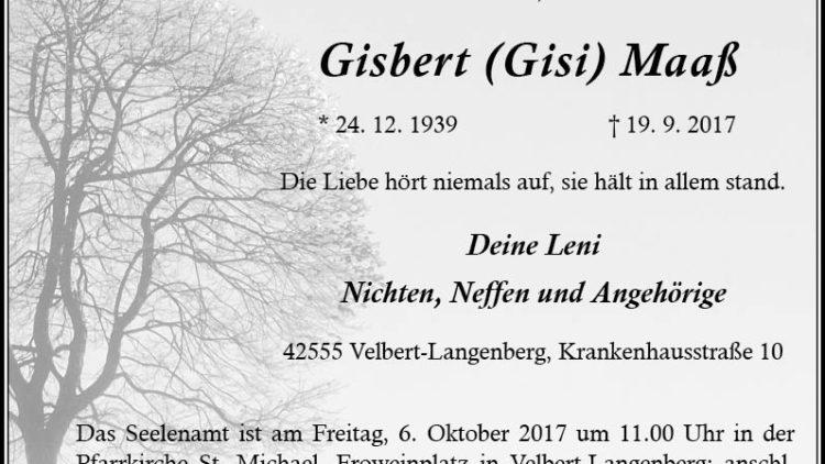 Gisbert Maaß