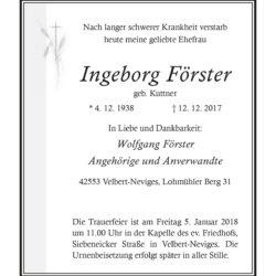 Ingeborg Förster