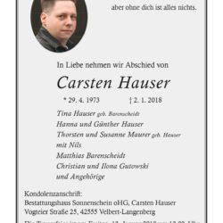 Carsten Hauser