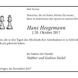 Hans Heegemann (Danksagung)