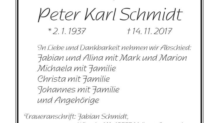 Peter Karl Schmidt