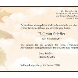 Hellmut Stiefler (Danksagung)