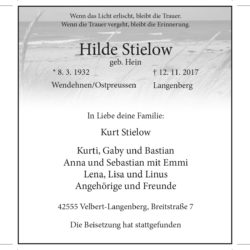 Hilde Stielow (Danksagung)