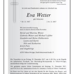 Eva Wetter