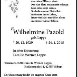 Wilhelmine Pazold