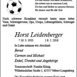 Horst Leidenberger