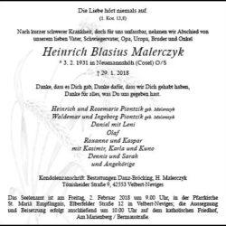 Heinrich Blasius Malerczyk
