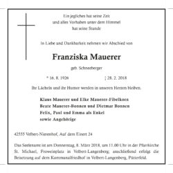 Franziska Mauerer