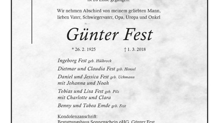 Günter Fest