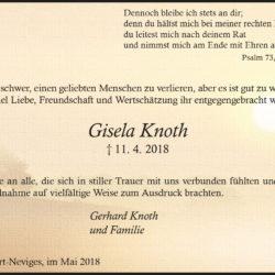 Gisela Knoth (Danksagung)
