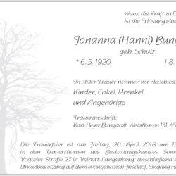 Johanna (Hanni) Bungardt