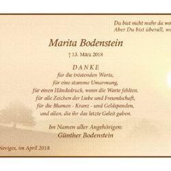 Marita Bodenstein (Danksagung)