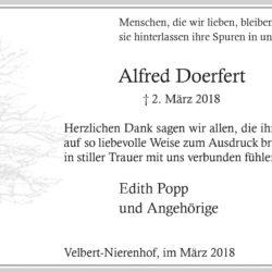 Alfred Doerfert (Danksagung)