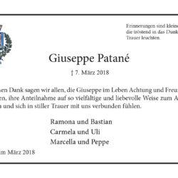 Giuseppe Patané (Danksagung)