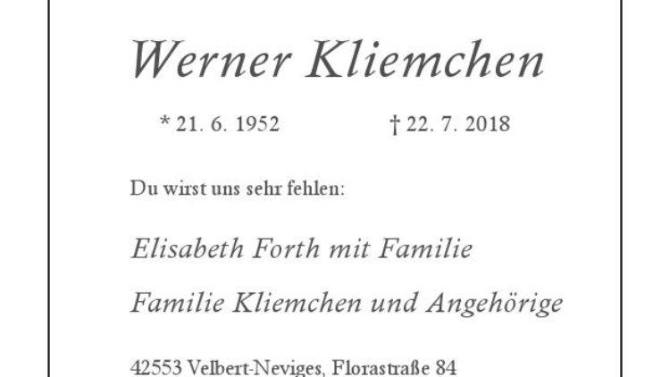Werner Kliemchen