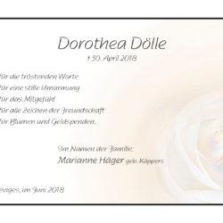 Dorothea Dölle -Danksagung-