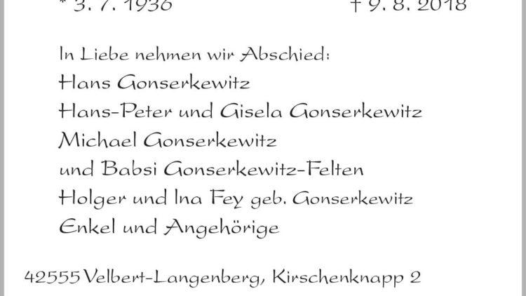 Gerda Gonserkewitz