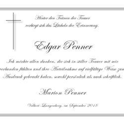 Edgar Penner -Danksagung-