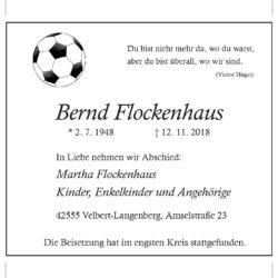 Bernd Flockenhaus † 12. 11. 2018