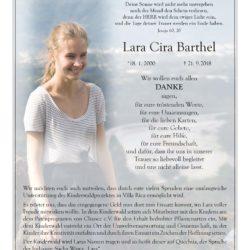 Lara Cira Barthel -Danksagung-