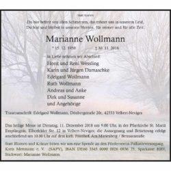 Marianne Wollmann † 30. 11. 2018