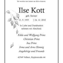 Ilse Kott † 24. 12. 2018