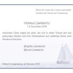 Helmut Lambertz -Danksagung-