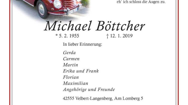 Michael Böttcher † 12. 1. 2019