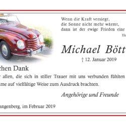 Michael Böttcher -Danksagung-