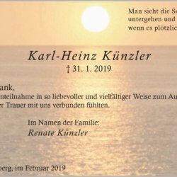 Karl-Heinz Künzler -Danksagung-