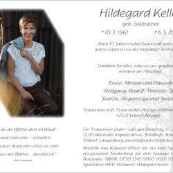 Hildegard Keller † 6. 5. 2019
