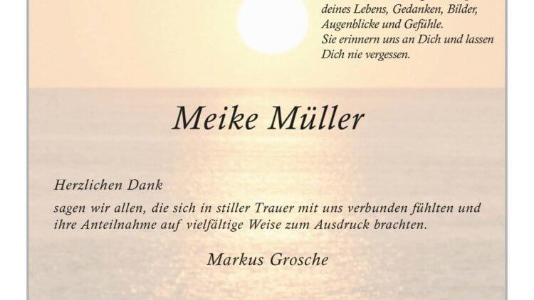 Meike Müller -Danksagung-