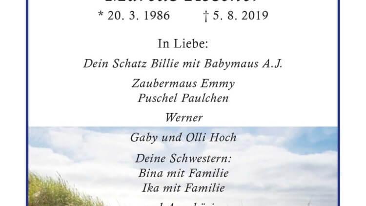 Marcus Roscher † 5. 8. 2019