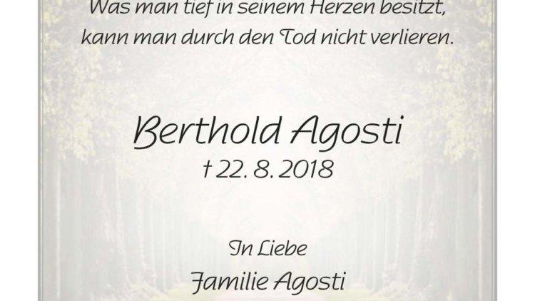 Berthold Agosti -1. Jahrgesgedächtnis-