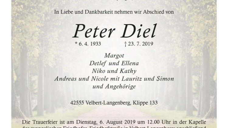 Peter Diel † 23. 7. 2019