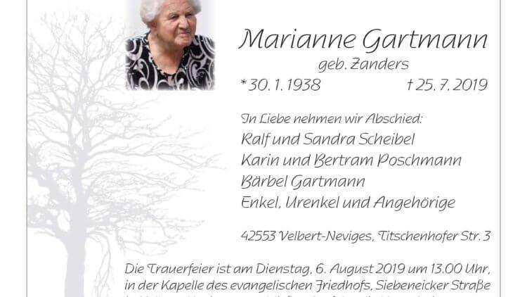 Marianne Gartmann † 25. 7. 2019