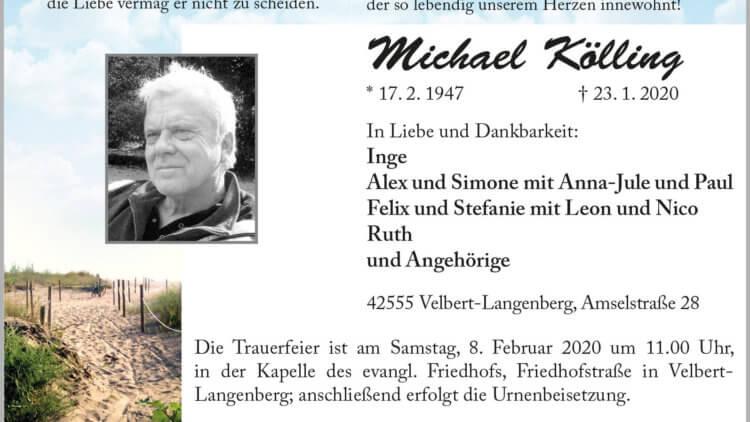 Michael Kölling † 23. 1. 2020
