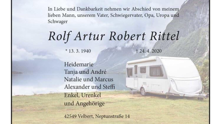 Rolf Artur Robert Rittel † 24. 4. 2020