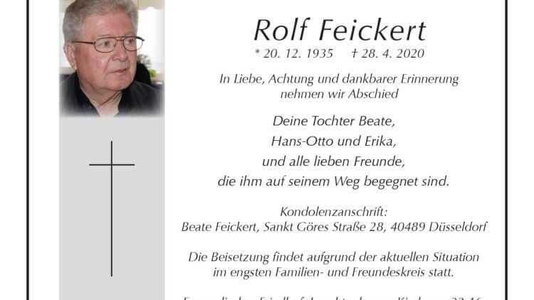 Rolf Feickert † 28. 4. 2020