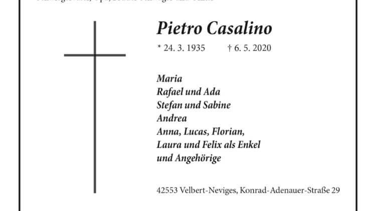 Pietro Casalino † 6. 5. 2020