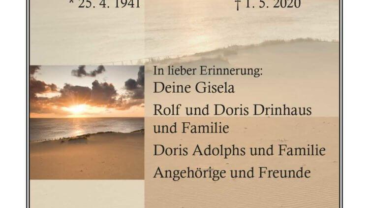 Klaus Drinhaus † 1. 5. 2020