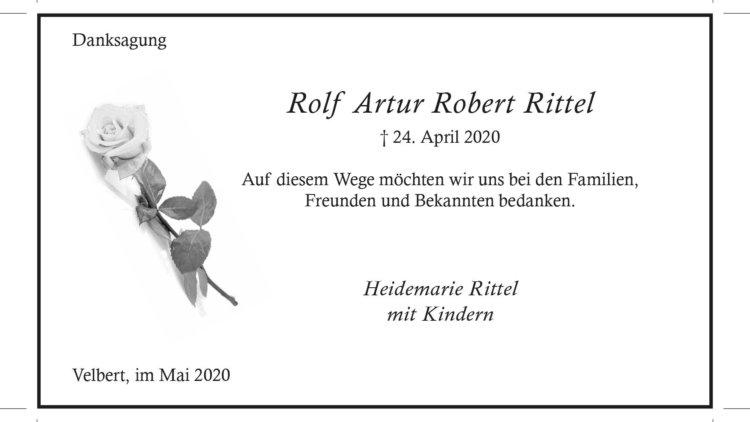 Rolf Artur Robert Rittel -Danksagung-